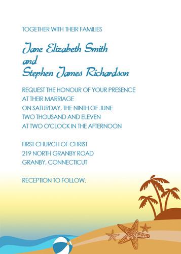 Beach Wedding Poster Wedding Invitation Templates Printable