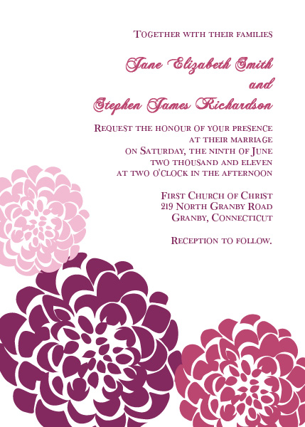 Chrysanthemum Free Wedding Invitation Template Printable – Invitation Templates for Free
