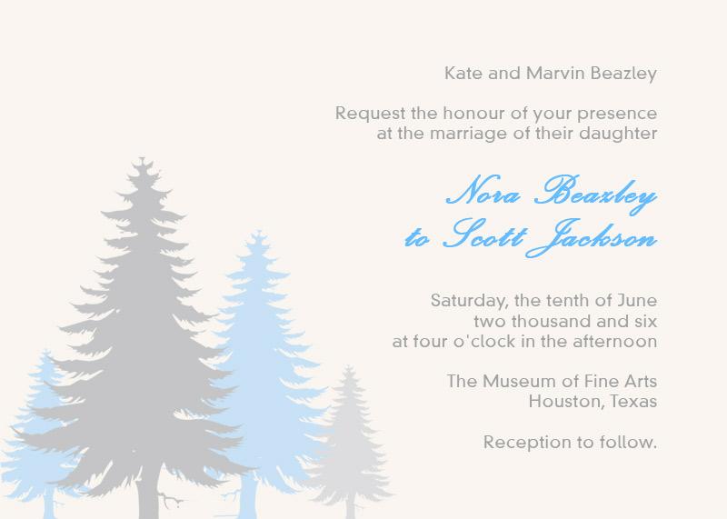 Pine Trees Printable Invitation