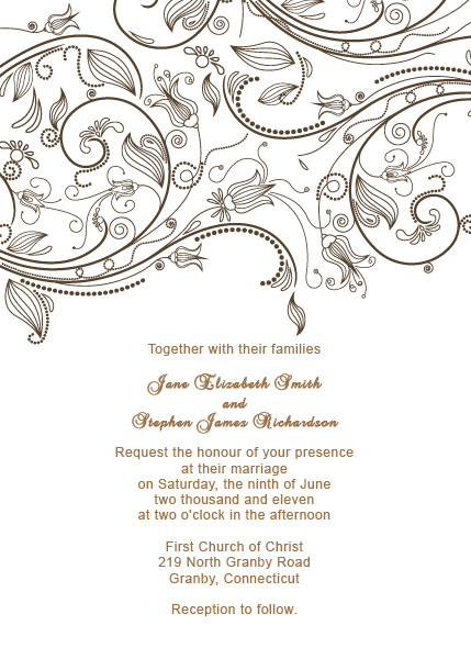 Vintage Flourishes Wedding Invitation Template  Wedding Invitation