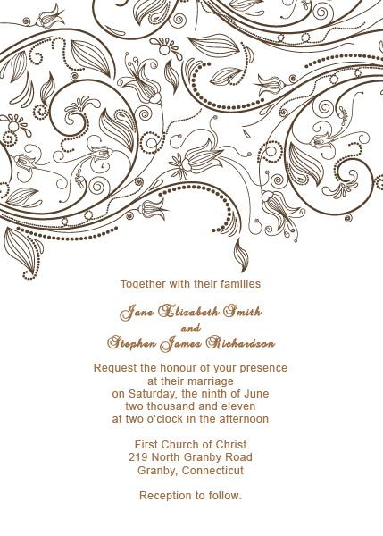 Vintage Flourishes Wedding Invitation Template Wedding Invitation