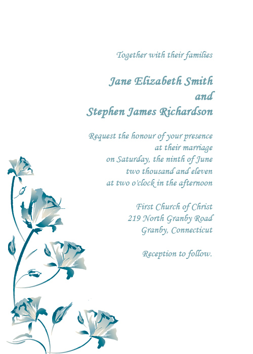 Printable invitation template with roses design