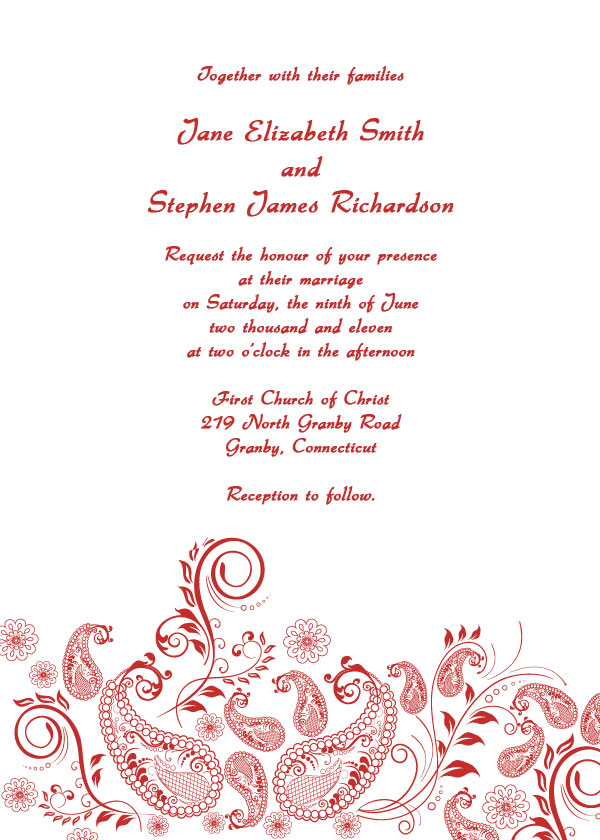 Wedding Invite Template Free Free Of Charge Wedding Invitations – Invitations Templates