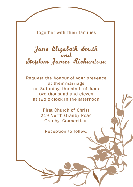 floral border wedding invitation