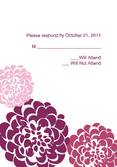 chrysanthemum wedding rsvp template