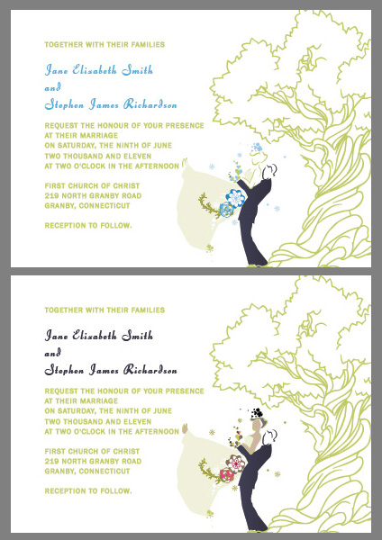 oak tree free wedding invitations Oak Tree Wedding Invitations
