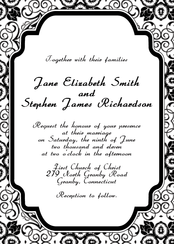 art deco wedding invitation template wedding invitation templates