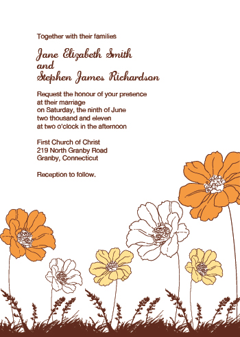 Country Floral Wedding Invitation Here 39s a wedding invitation template with
