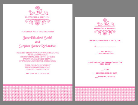 Free daisy wedding invitation and RSVP kit