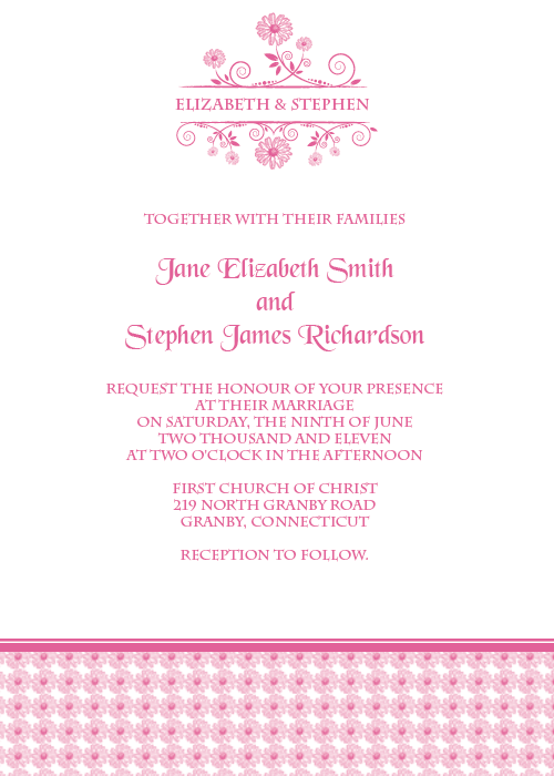 Daisy free wedding invitation template