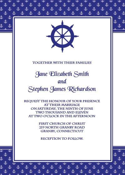 Navy wedding invitation template wedding invitation templates navy wedding invitation template stopboris Choice Image