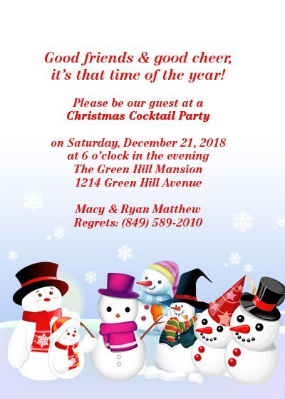 free christmas party invitation template - Free Christmas Invitation Templates
