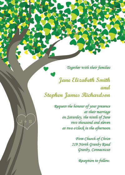 Image of Tree Wedding Invitation Suggestions Tuesday Tree Wedding