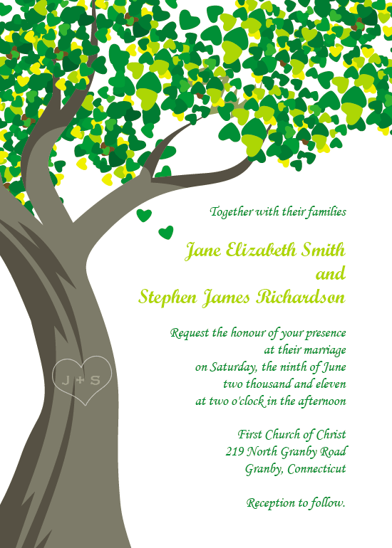 wedding invitation wording wedding invitation templates tree With free printable tree wedding invitations