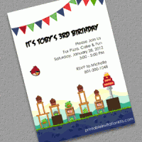 Angry Birds Free Birthday invitation