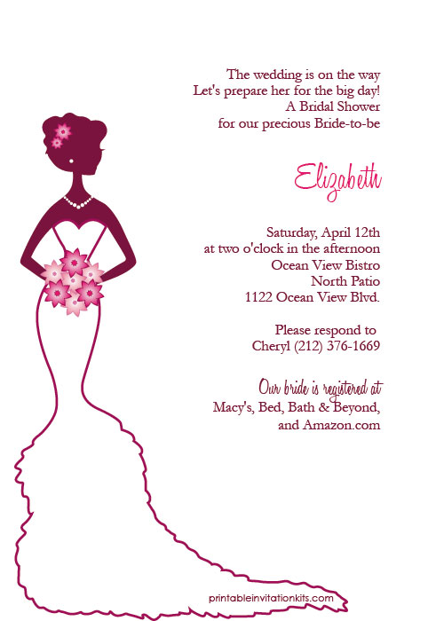 Free Bridal Shower Printable Invitation