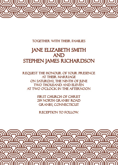 image of retro wedding invitation Retro Pattern Vintage Wedding Invitation