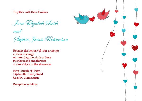 Hearts themed valentines printable invitation