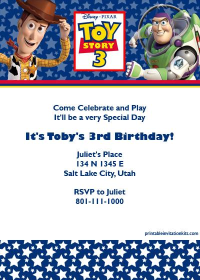 Boy Toys Template : Toy story birthday invitation ← wedding