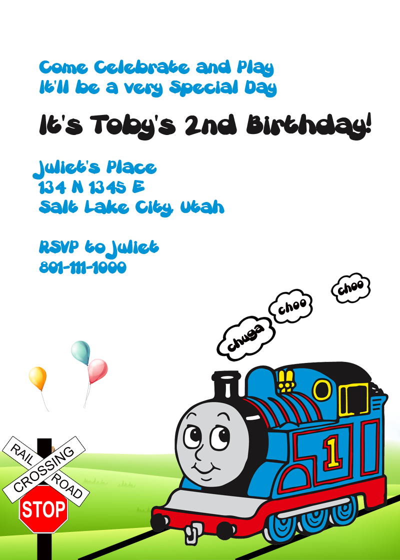 Thomas the Tank Engine Free birthday Invitation
