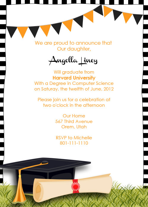 graduation party printable invitation