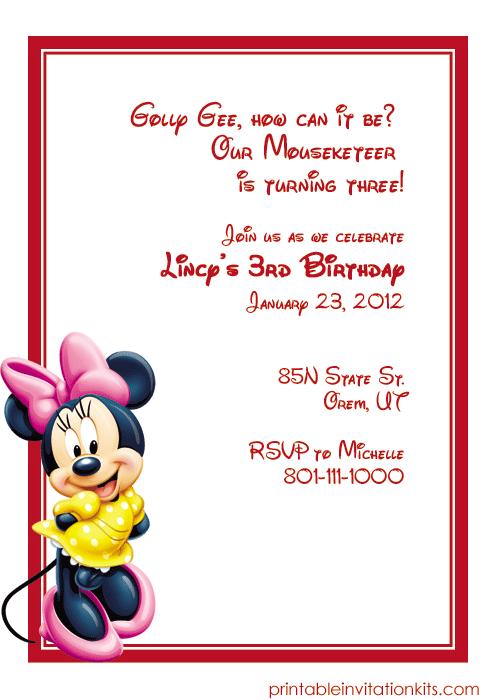 Minnie Mouse Invitation Template from www.printableinvitationkits.com