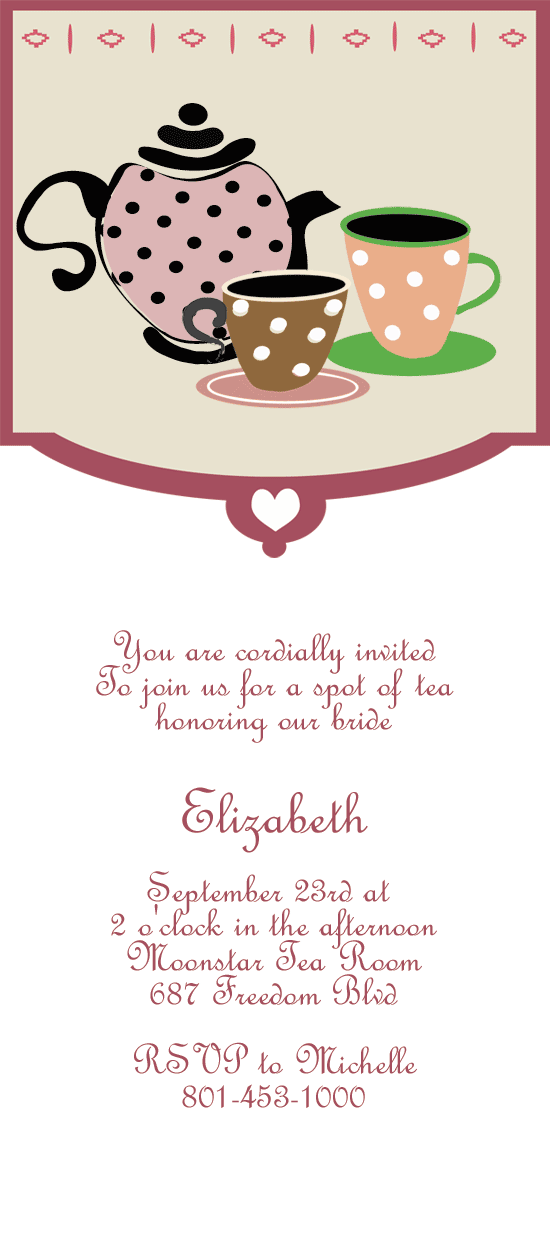 Tea Party Printable Invitation Template
