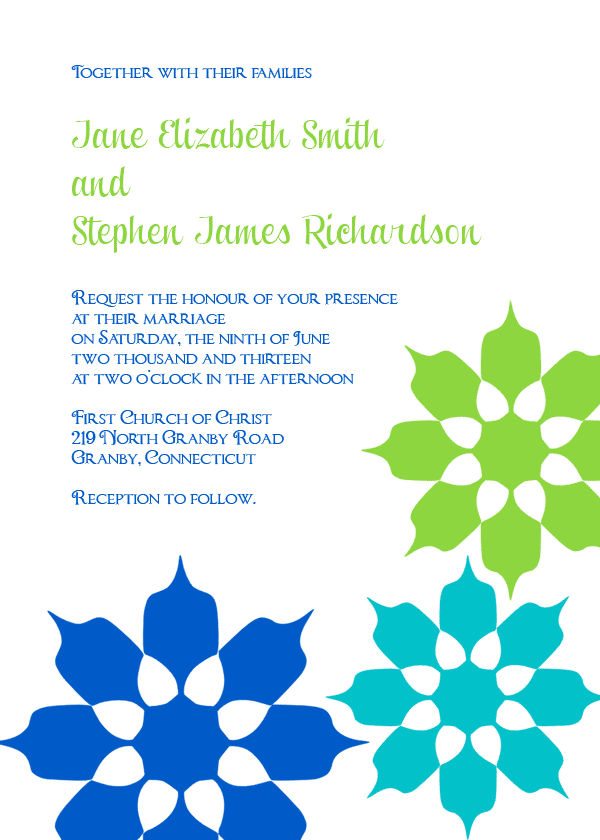 Retro Inspired wedding invitation template