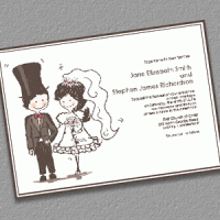 caricature-groom-bride