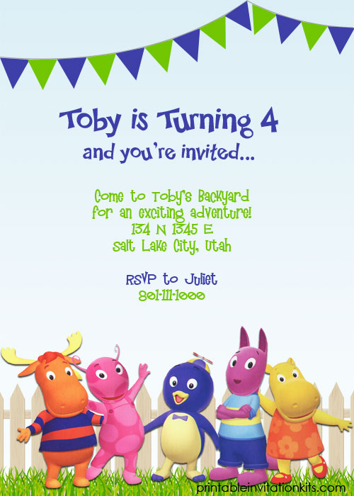 Backyardigans printable invitation template