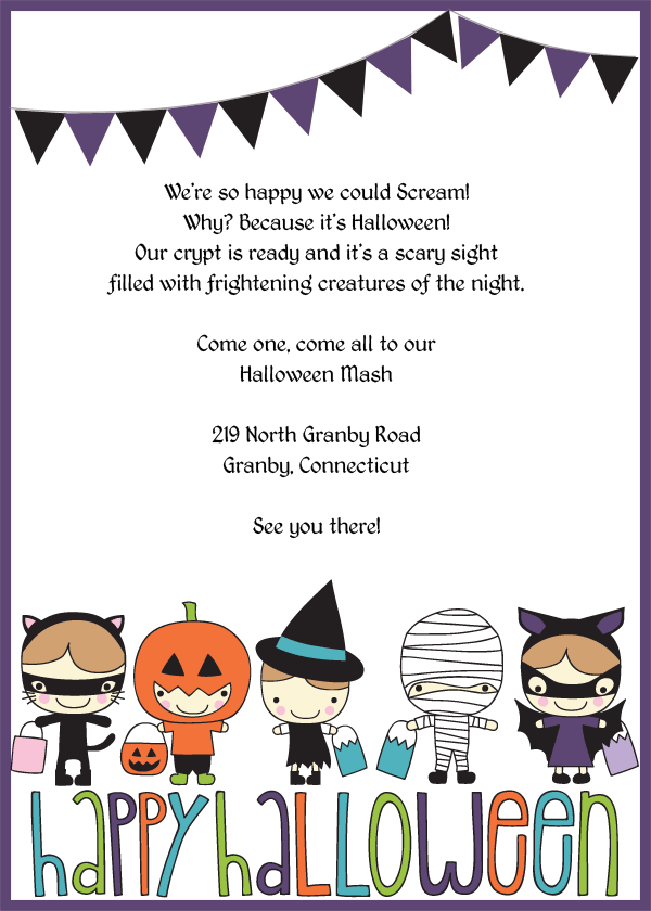Trick or Treat Halloween Invitation Template