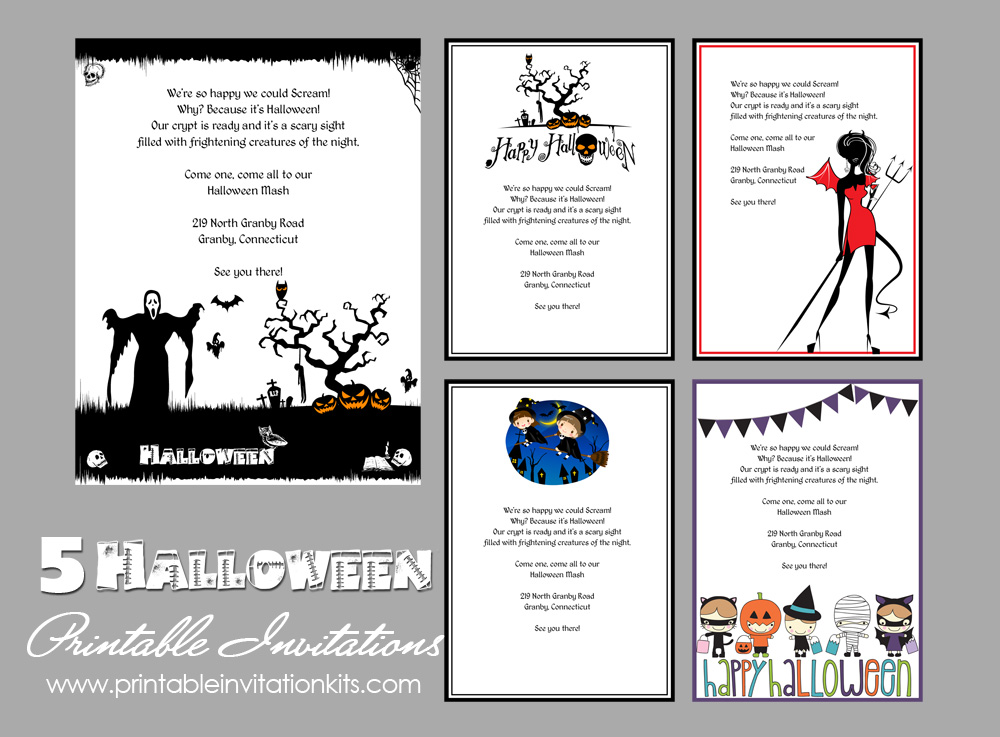 5 free halloween printable templates wedding invitation templates