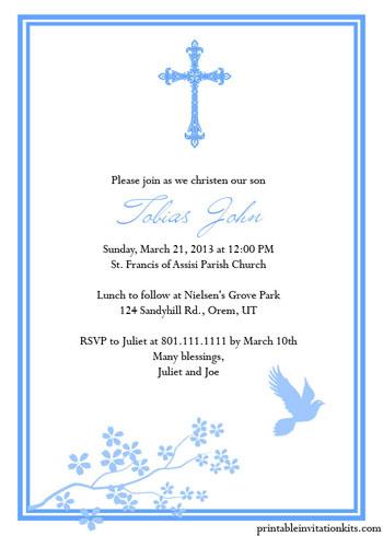 Christening Baptism Invitation Templates For Baby Boy And Girl Wedding Invitation Templates
