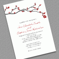 winter berry holiday invitation