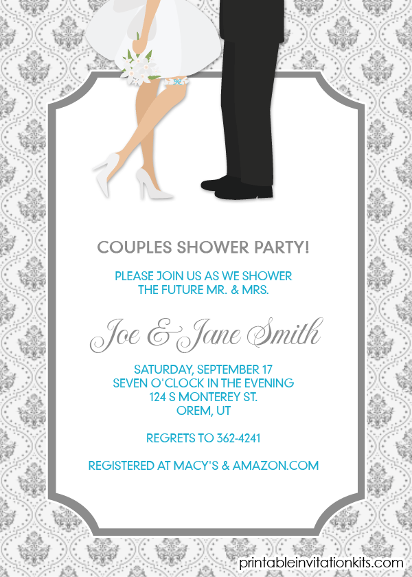 Bridal Shower Invitations Couples Wedding Shower Invitations - Couples wedding shower invitations templates free