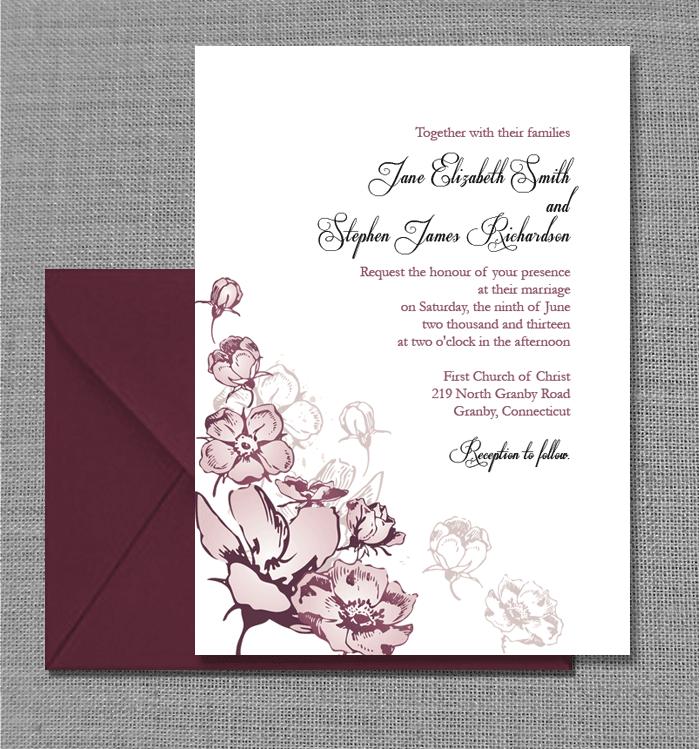 European vintage invitation template