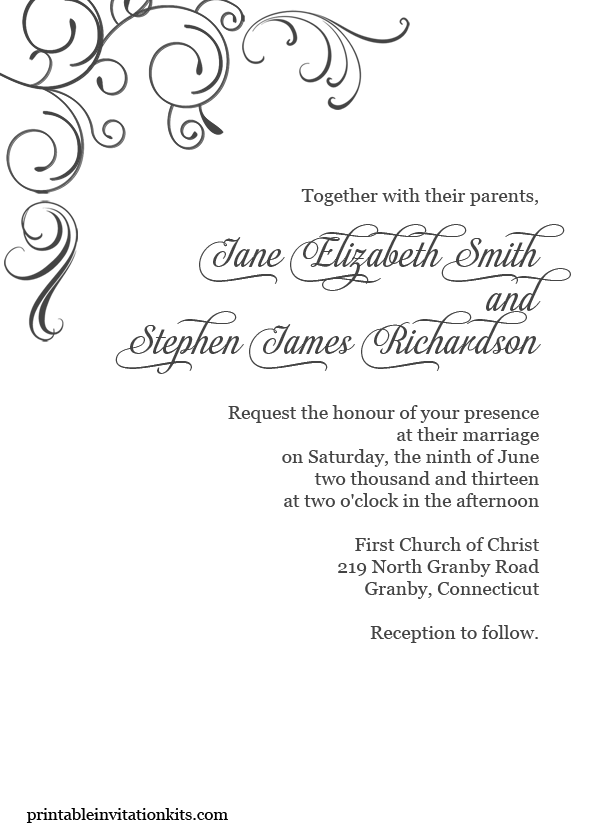 Standard Wedding Invite Size for amazing invitation template