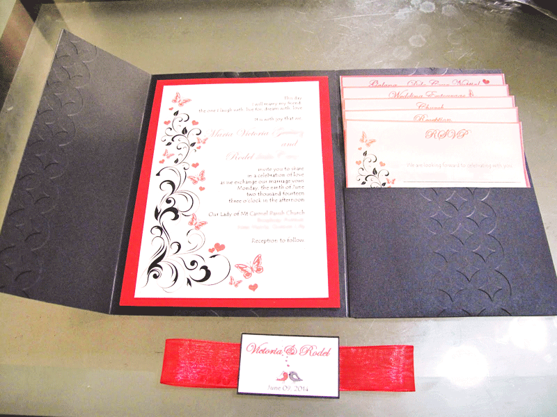 Eloquent image within printable invitation kits