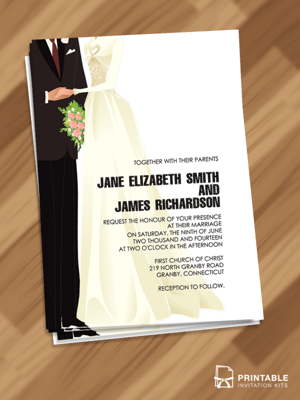Red Carpet Old Hollywood Couple Shower Invitation Wedding