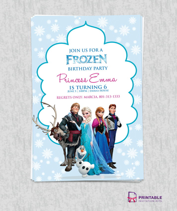 Free Frozen Birthday Invitation Template Wedding Invitation