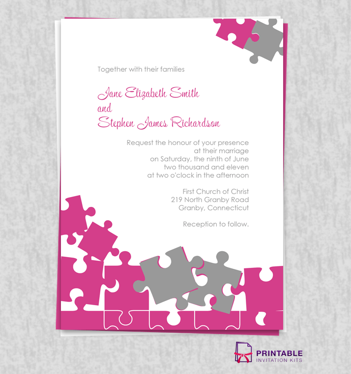 Jigsaw Puzzle Wedding Invite