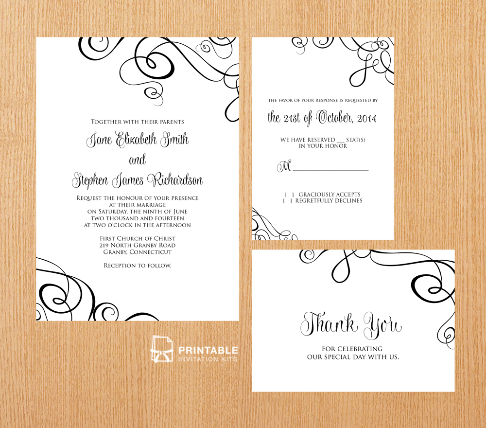 Abstract Ribbon Swirls Invitation Set ← Wedding Invitation. Technical Help Desk Interview Questions Template. Vacation Accrual Excel Template. Catholic Wedding Program Template Free. Microsoft Office Raffle Ticket Template