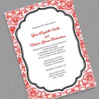 lace background vintage invitation
