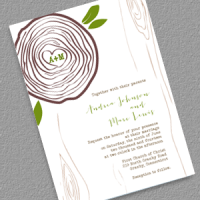 Rustic Wood Ring Invitation