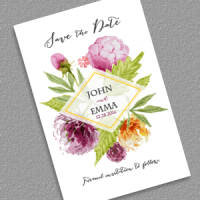 Watercolor Save the Date Feature