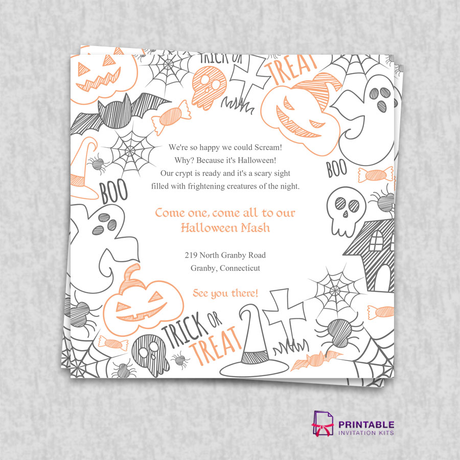 halloween 2015 party invitation template wedding invitation