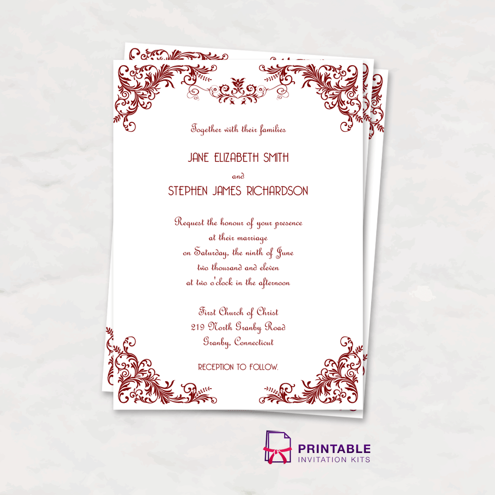It is an image of Adorable Printable Invitations Kit