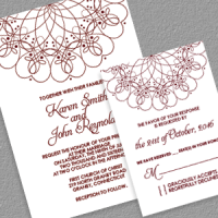 Spiral Border Invitation and RSVP