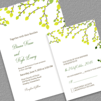 greenery invitation set feature