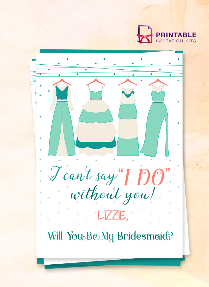 Cant Say I Do Bridesmaid Card